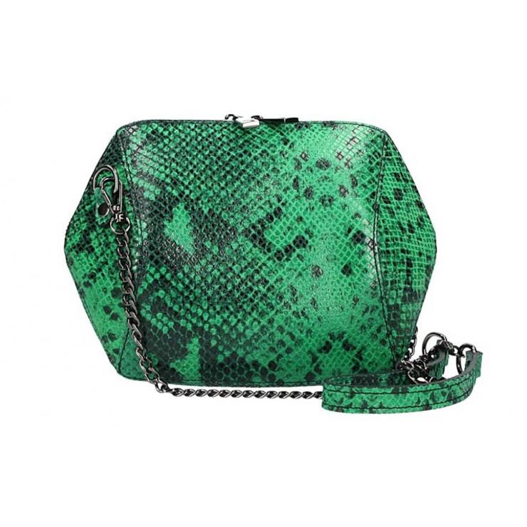 Zelená kožená kabelka 446