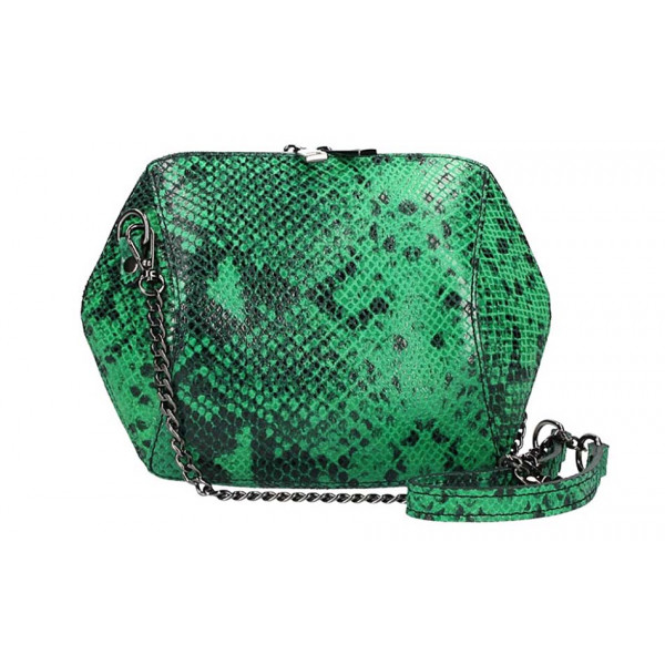 Woman Leather Handbag 446 green