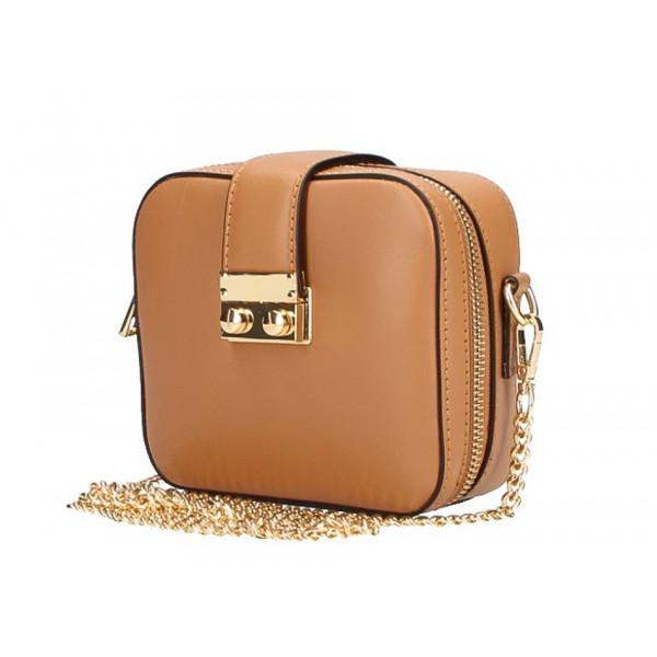 Dámska kožená kabelka na rameno 5334 koňak