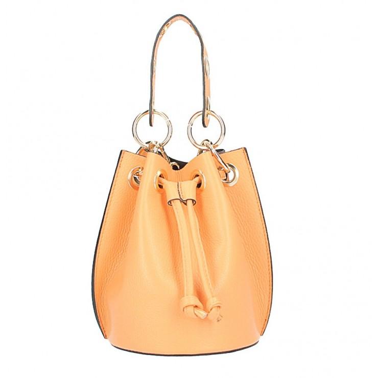 Vaková kožená kabelka 363 marhuľová