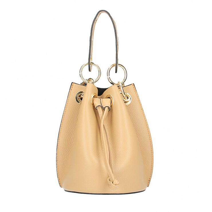 Vaková kožená kabelka 363 kamel