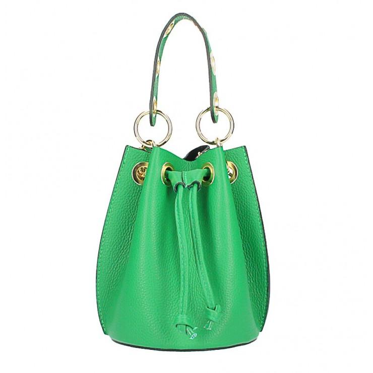 Vaková kožená kabelka 363 zelená