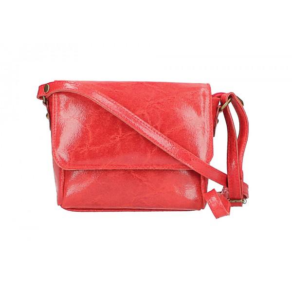 Kožená kabelka na rameno 584 červená Červená