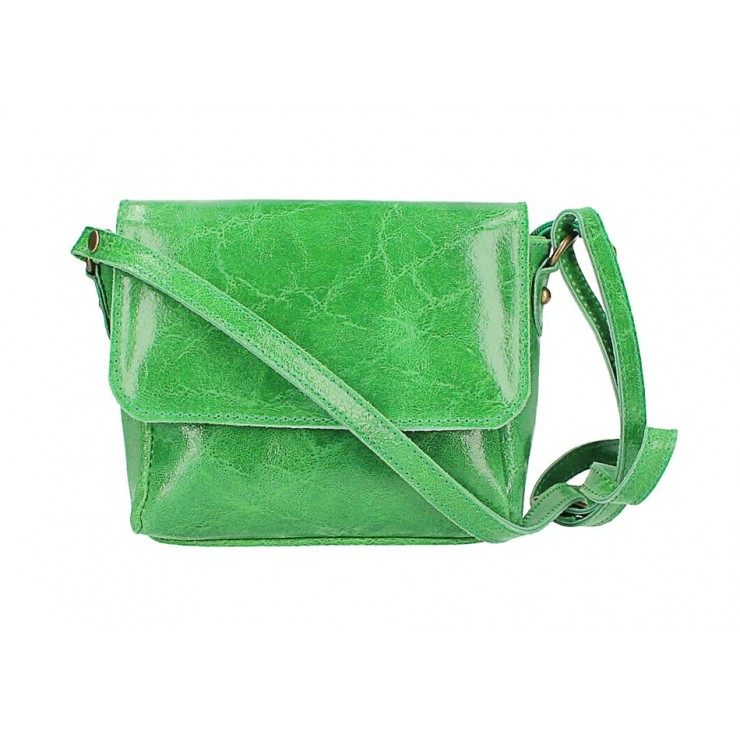 Kožená kabelka na rameno 584 zelená