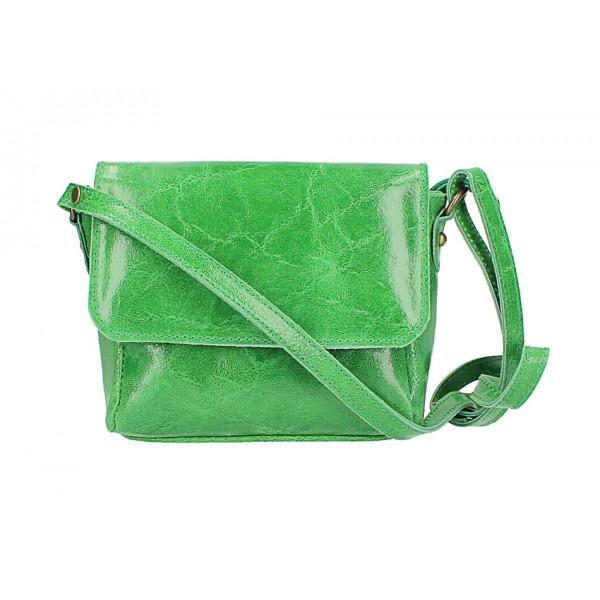 Kožená kabelka na rameno 584 zelená Zelená
