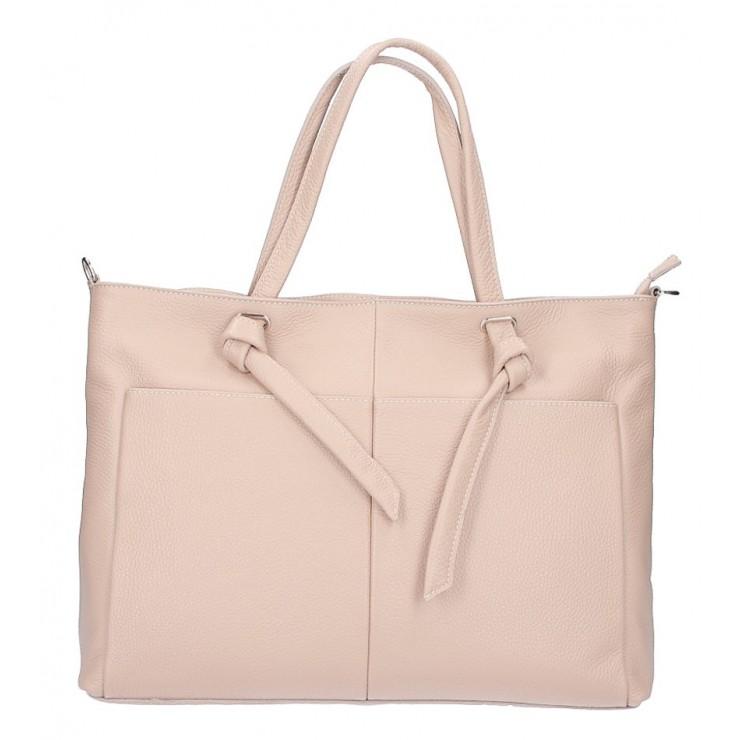 Leather Shopper Bag 5335 powder pink