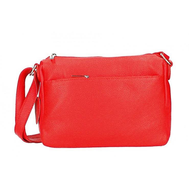 Kožená kabelka na rameno 598 červená