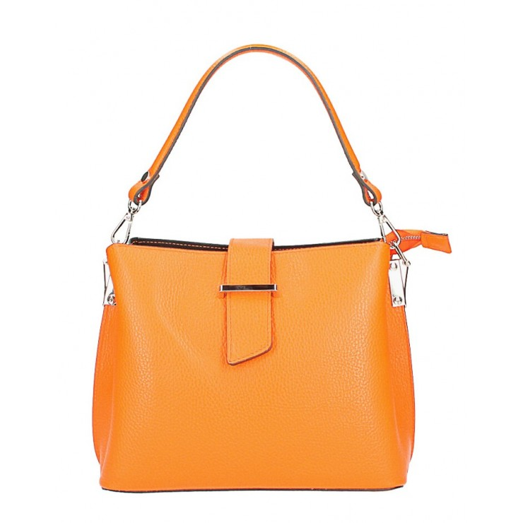 Kožená kabelka na rameno 599 oranžová