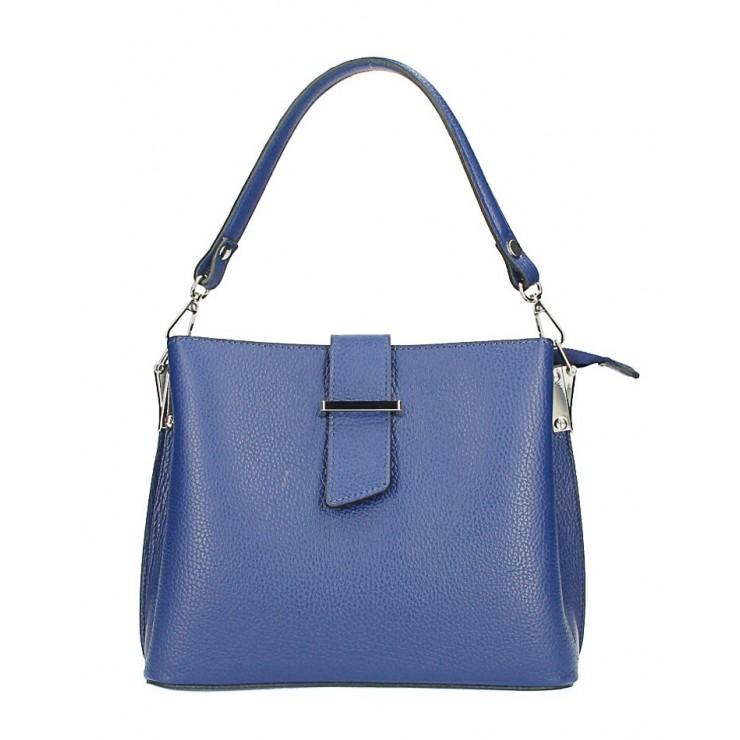 Kožená kabelka na rameno 599 modrá