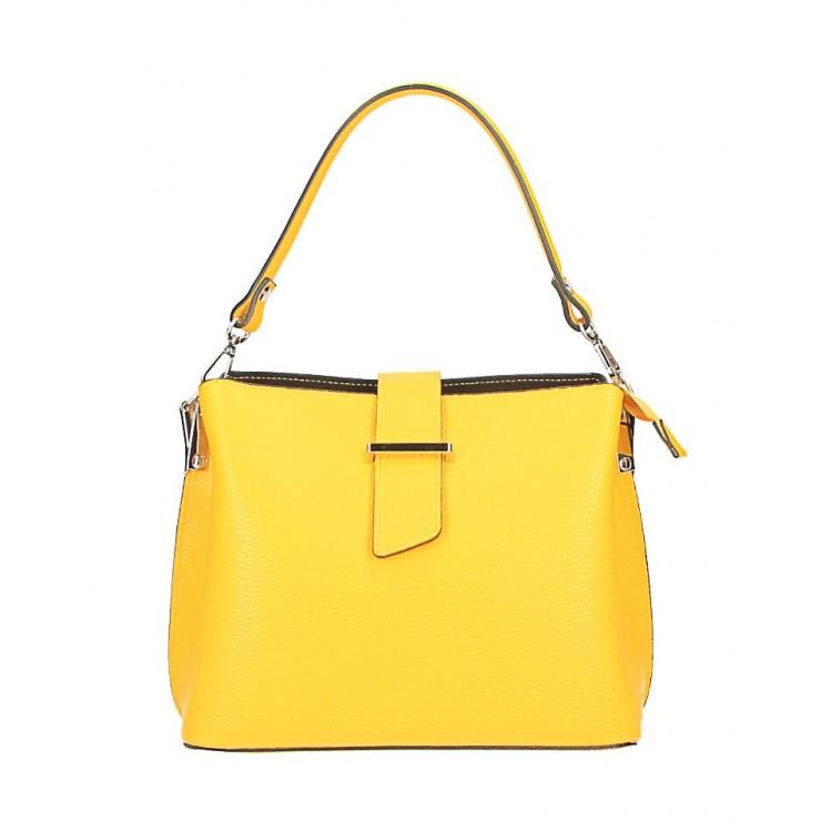Kožená kabelka na rameno 599 žltá