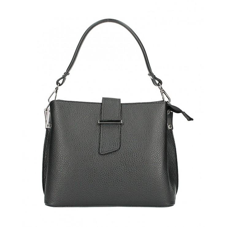Kožená kabelka na rameno 599 čierna