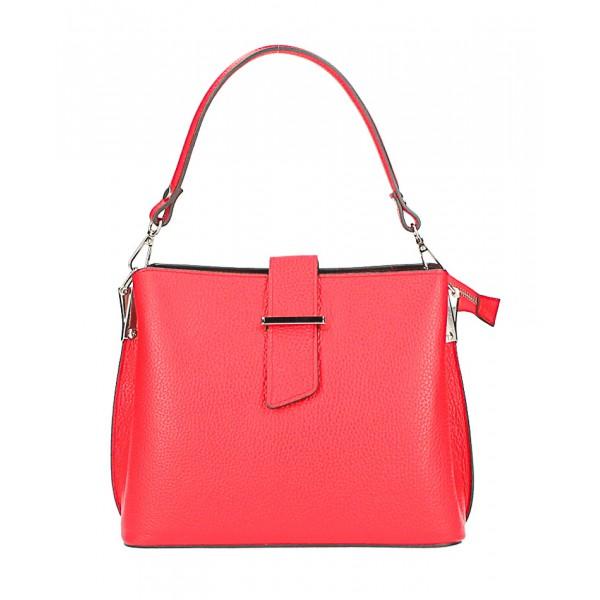 Kožená kabelka na rameno 599 červená Červená
