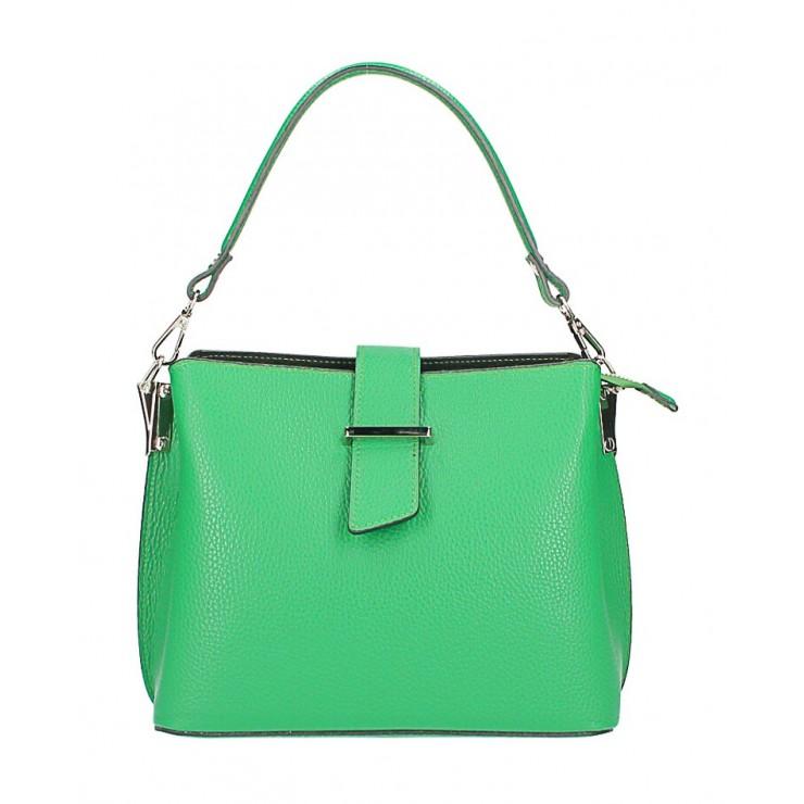 Kožená kabelka na rameno 599 zelená