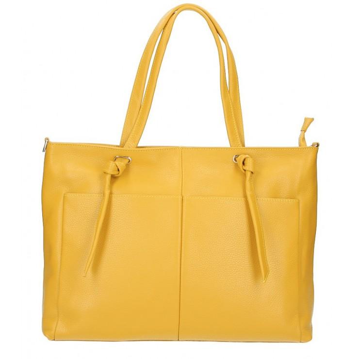 Leather Shopper Bag 5335 mustard