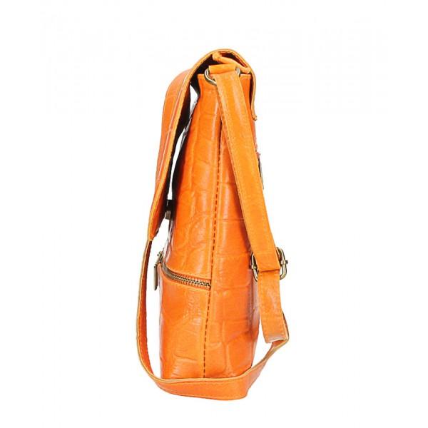 Kožená kabelka na rameno 573 fuchsia Made in Italy Fuchsia