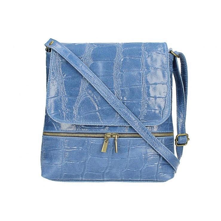 Kožená kabelka na rameno 573 jeans Made in Italy