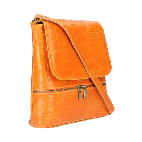 Kožená kabelka na rameno 573 červená Made in Italy Červená