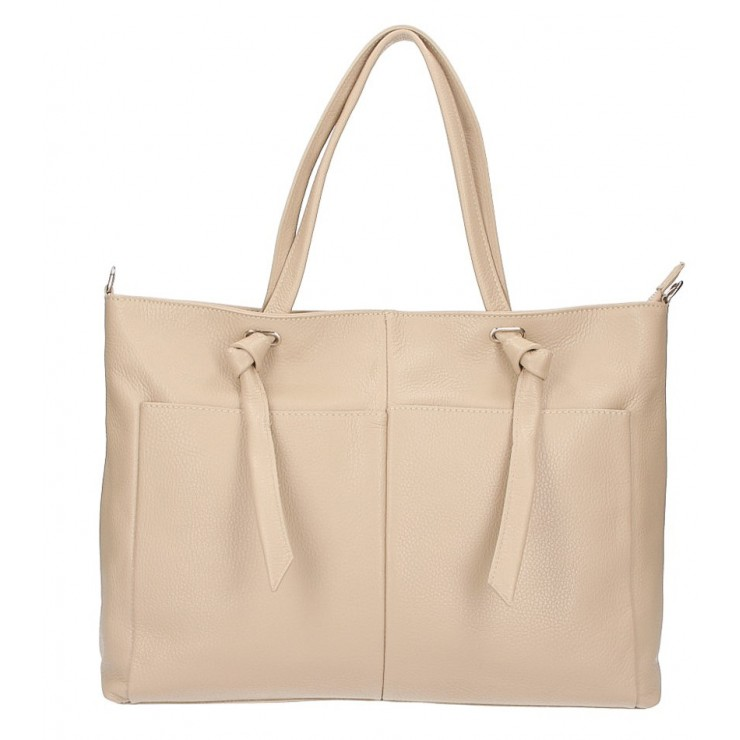 Leather Shopper Bag 5335 taupe