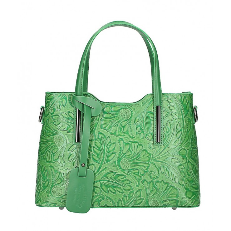 Kožená kabelka 1493 zelená