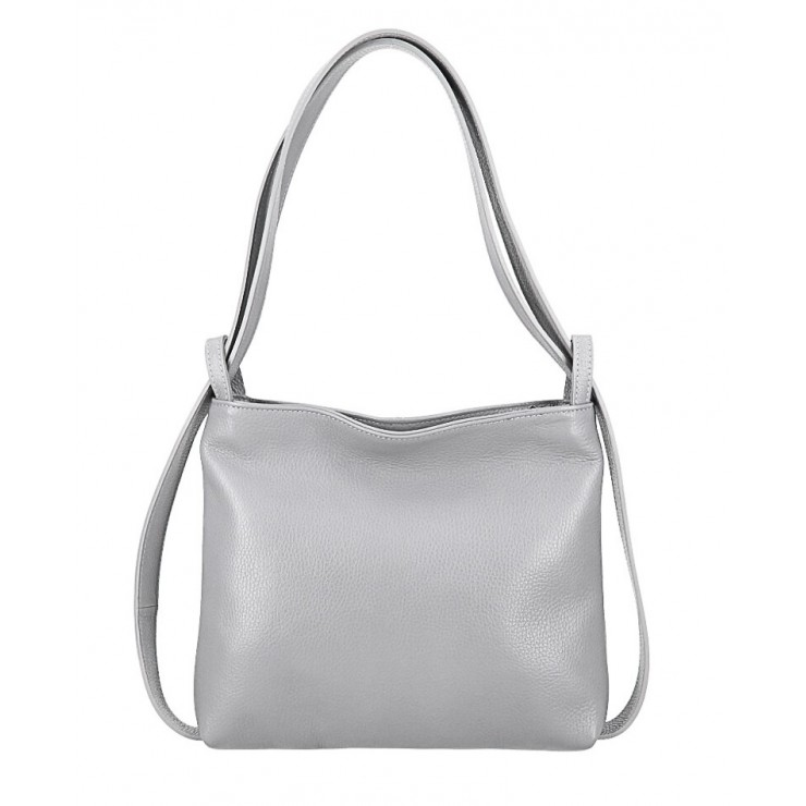 Leather shoulder bag/Backpack 575 gray Made in Italy