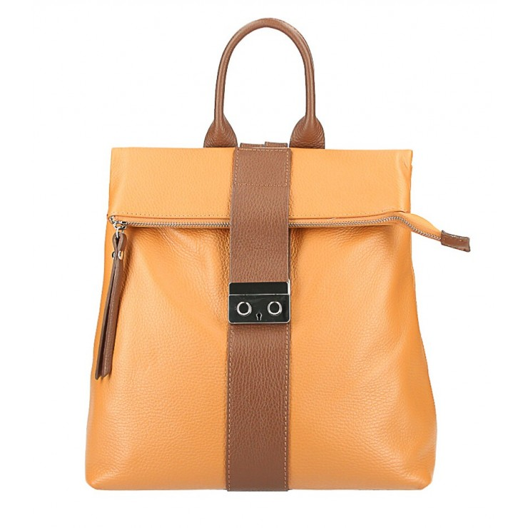 Leather backpack 576 cognac Made in Italy