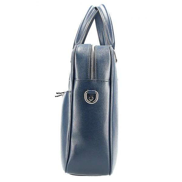 Kožená aktovka 996 modrá Made in Italy Modrá