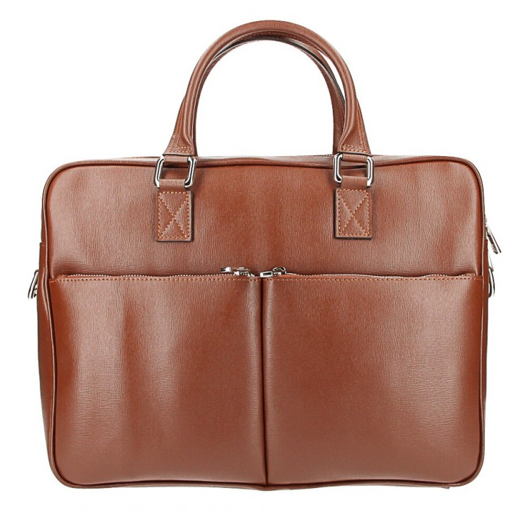 Leather Workbag 996 brown Made in Italy