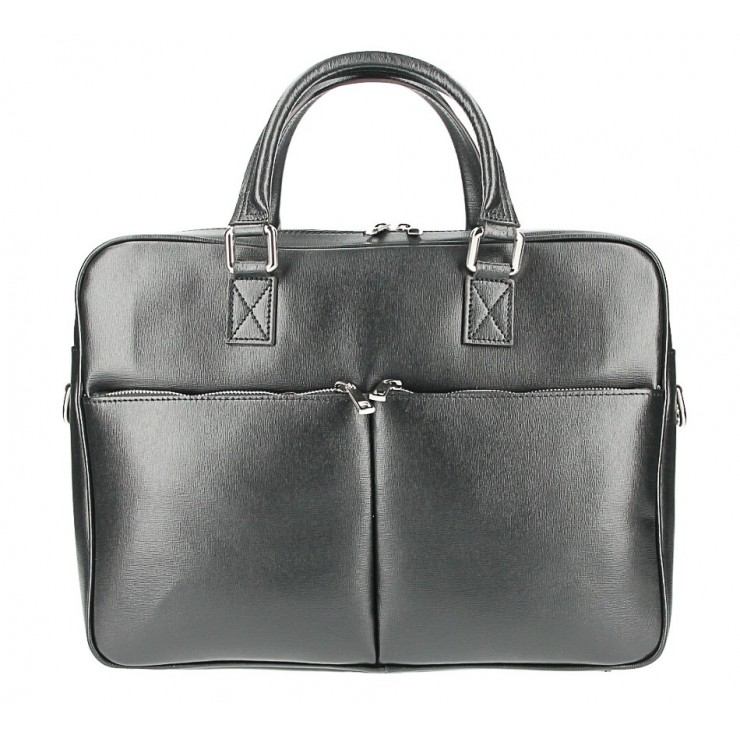 Leather Workbag 996 black Made in Italy