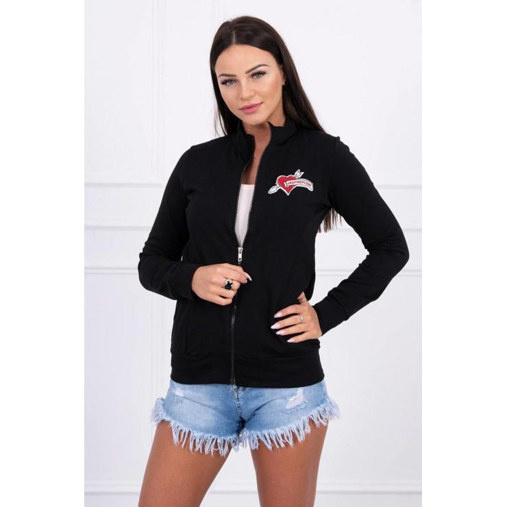 Sweatshirt with heart  MI8587 black