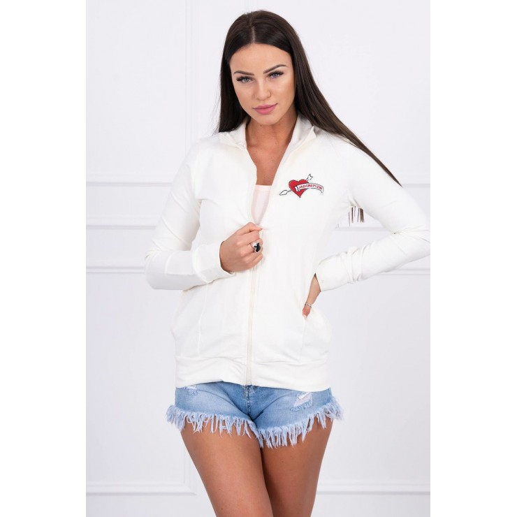 Sweatshirt with heart  MI8587 cream