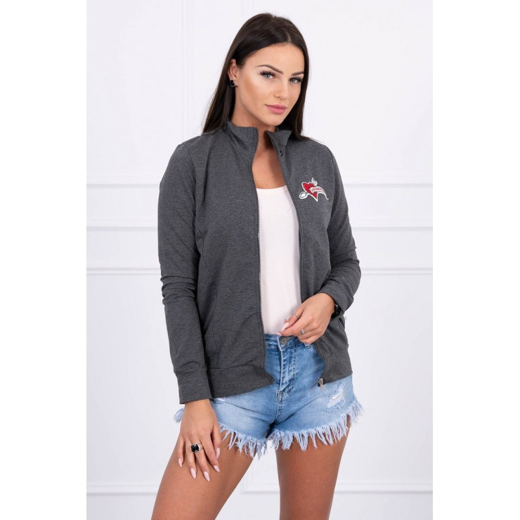 Sweatshirt with heart  MI8587 graphite