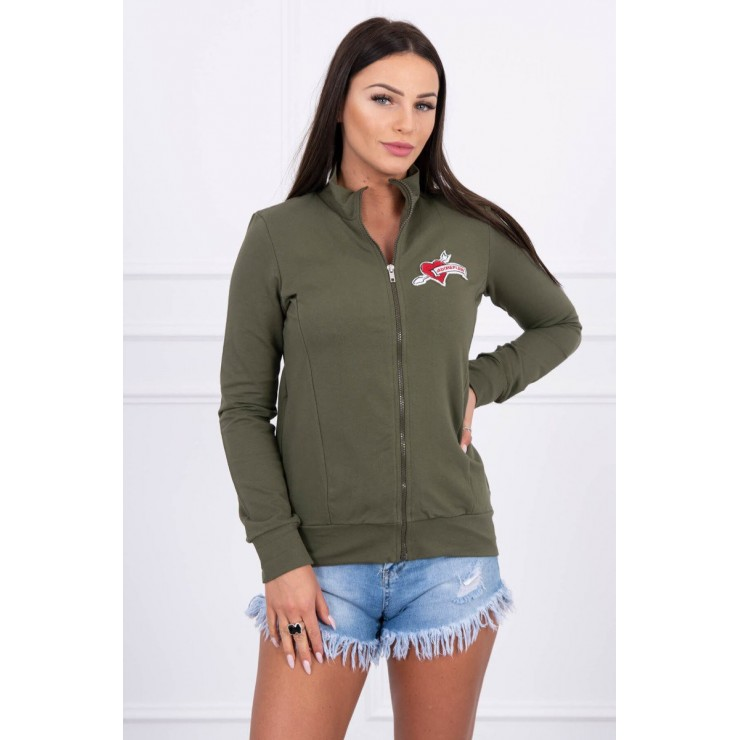 Sweatshirt with heart  MI8587 green
