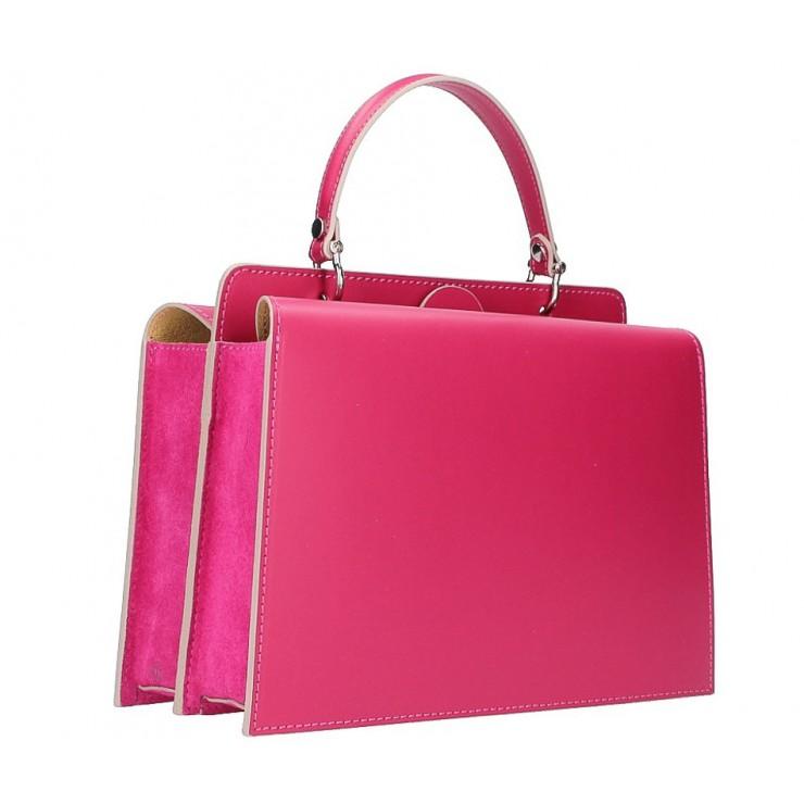 Genuine Leather Handbag  5337 fuxia