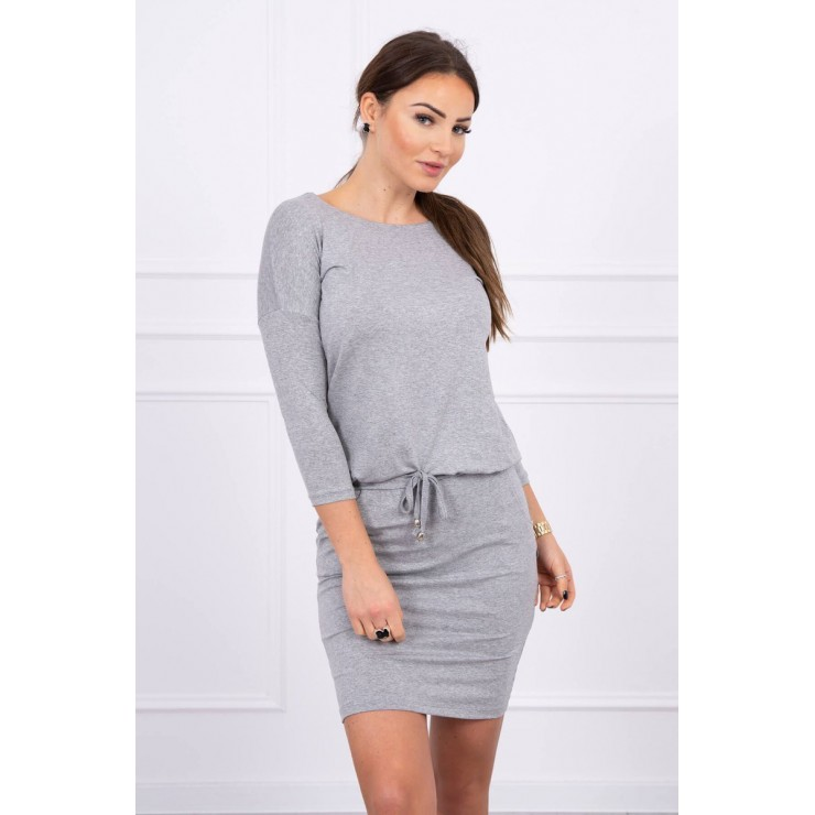 Women's dress tied at the waist MI9013 gray