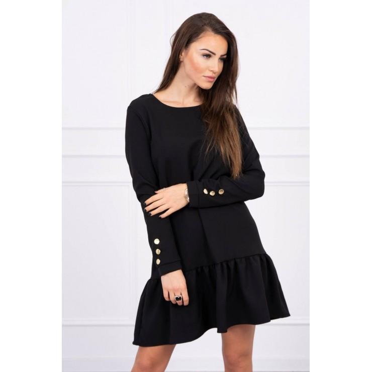 Dámske šaty s volánom MI66188 čierne