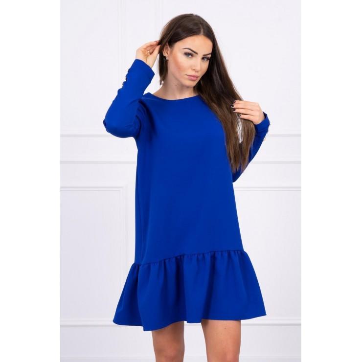 Dámske šaty s volánom MI66188 modré