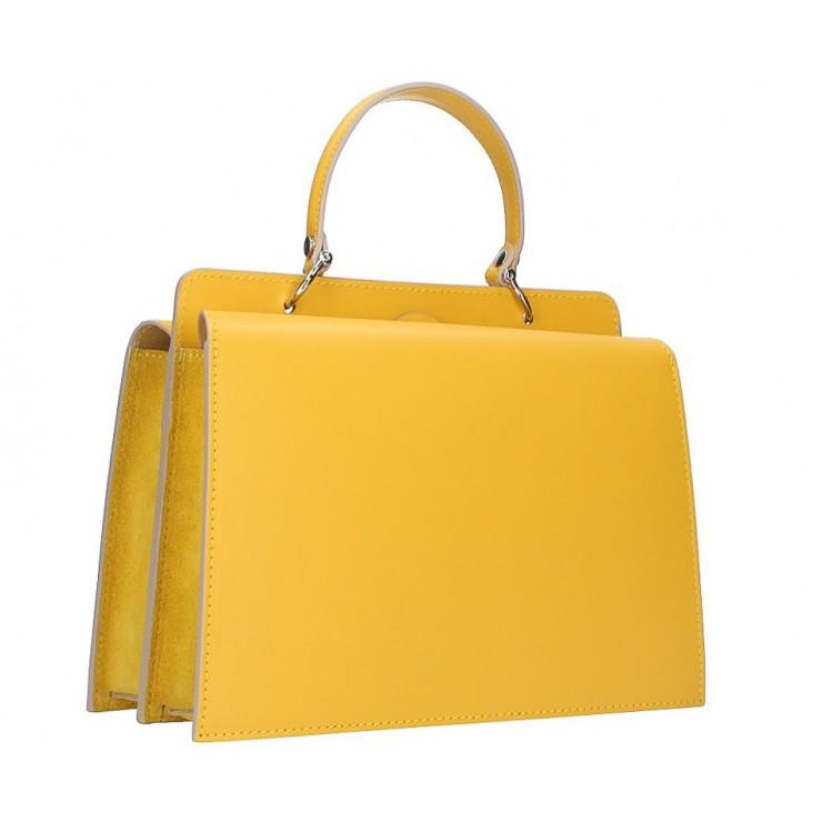 Kožená kabelka 5337 žltá