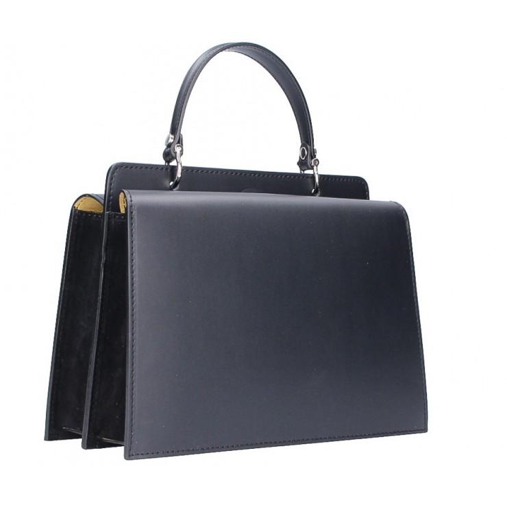 Genuine Leather Handbag  5337 black
