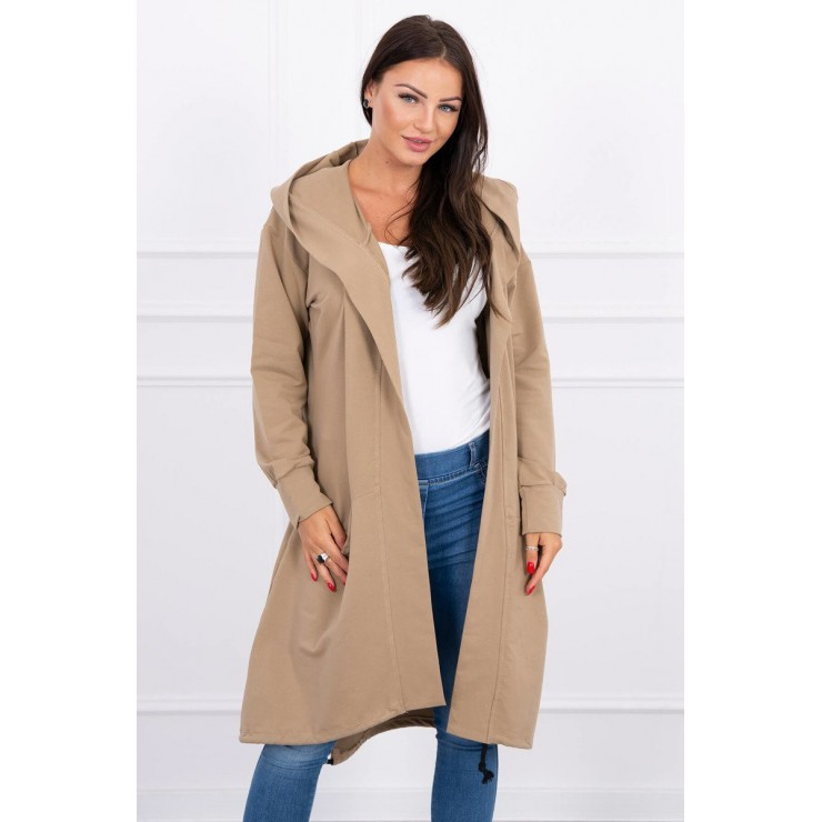 Cape with a hood oversize MI004 camel