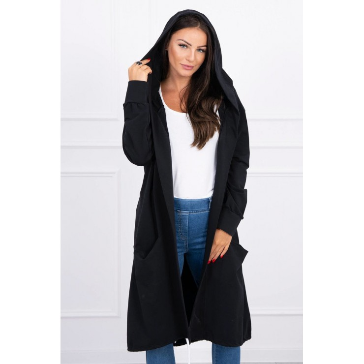 Cape with a hood oversize MI004 black