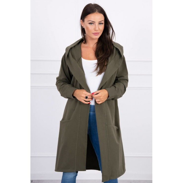 Cape with a hood oversize MI004 khaki