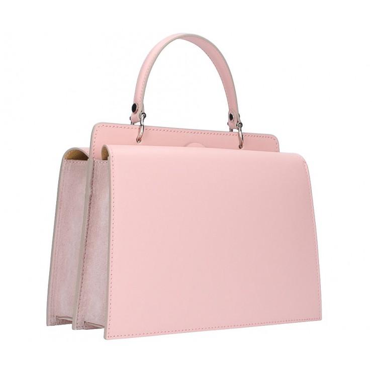 Kožená kabelka 5337 ružová