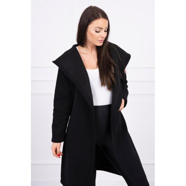 Long cardigan with hood MI0138 black