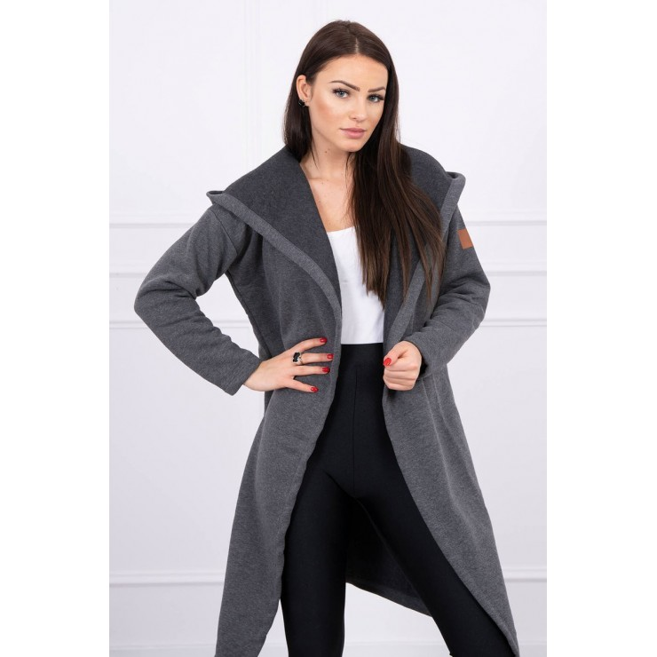Long cardigan with hood MI0138 graphite