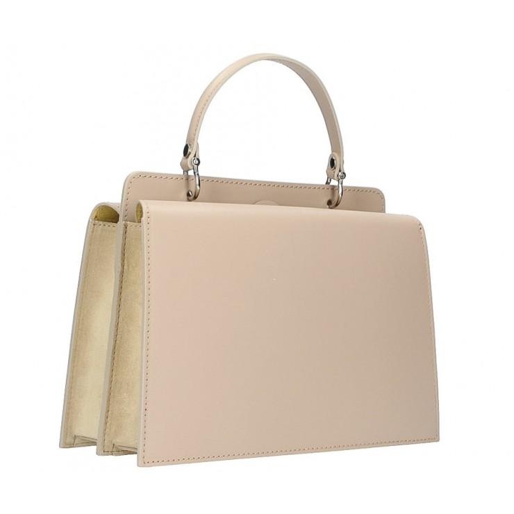Genuine Leather Handbag  5337 taupe