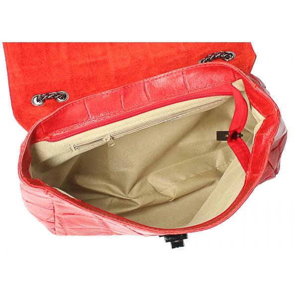 Kožená kabelka na rameno MI15 koňaková Made in Italy Koňak