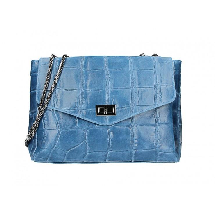 Kožená kabelka na rameno MI15 jeans Made in Italy