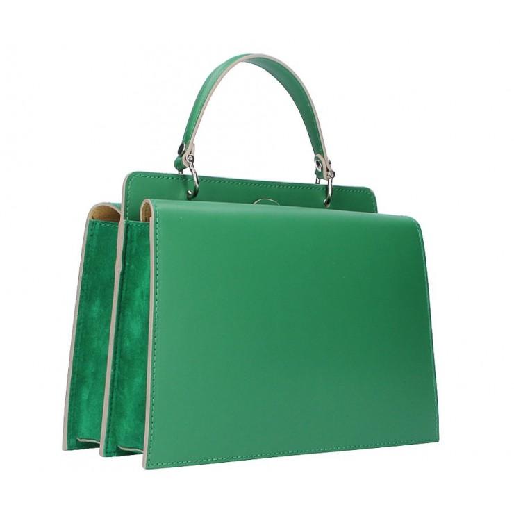 Genuine Leather Handbag  5337 green