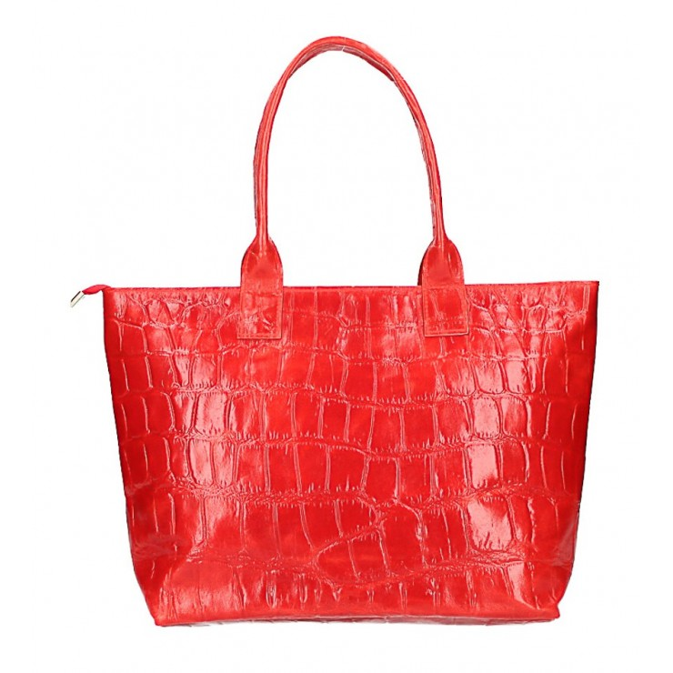 Woman Leather Handbag MI79 red Made in Italy