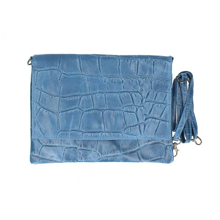 Kožená kabelka na rameno MI60 jeans Made in Italy